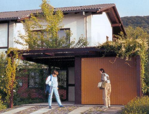 garage mit angebautem carport auch zum selbstaufbau geeignet. Black Bedroom Furniture Sets. Home Design Ideas